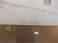 """W.E.C.  Water colour 14""""x8"""""""