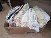 Box of bed sheets etc