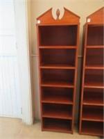 "Mahogany book shelf 17.5""W 63""T"
