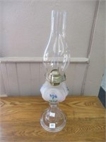 """Hand painted oil lamp- 19"""""""