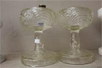 """2 oil lamp bases -9.5"""""""
