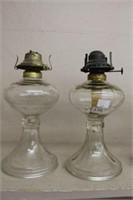 """2 oil lamp bases - 11"""""""