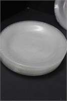 Glass bowl and plates
