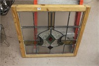 Lead glass window 24.5""