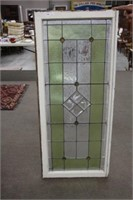 "Lead glass window - 21.5""x50"""