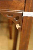 """Walnut console table - some damage 38""""x20"""""""