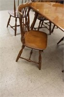 "Vilas maple table and 6 chairs  38""x60"""