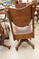 Early Oak arm office chair