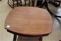 Mahogany claw foot lamp table