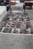 Checkered area rug