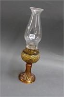 """Amber oil lamp - 16"""""""