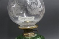 "Green oil lamp - 20"""