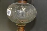 "Cherub oil lamp - 21.5"""