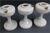 3 oil lamp bases -