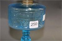 """Blue oil lamp - 16"""""""