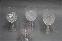 4 stemware goblets