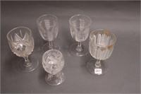 5 stemware goblets