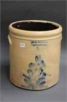 W.E. Welding Brantford blue flower crock