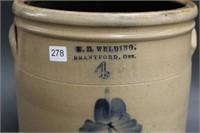 W.E. Welding Brantford 4 gal crock