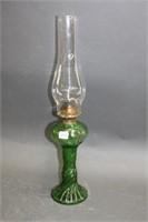 "Green oil lamp - 19.5"""