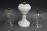 3 oil lamp bases