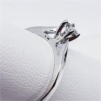 14K White Gold Diamond (I-2)(0.18ct)  Ring (~Size
