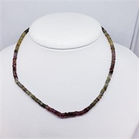 Silver Fancy Color Sapphire(50ct) 16 Inch With