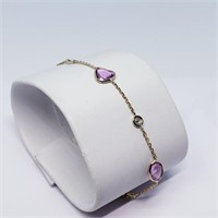 14K Yellow Gold Pink And Fancy Sapphire(2.3ct)