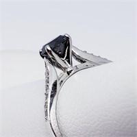 14K White Gold Black Diamond(0.75ct) 12