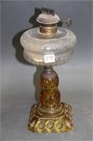"""Amber oil lamp base - 12"""""""