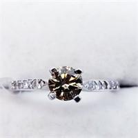 14K White Gold Fancy Brown Diamond (0.5ct) 12