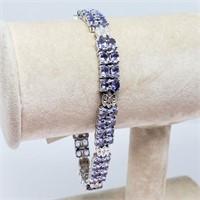 Silver Tanzanite(11.2ct)  Bracelet (~weight