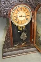 "Gingerbread shelf clock - 22.5""H"