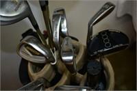 Golf Clubs with Bag & Cart