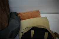 Group of Bags, Pillows & Floor Mag