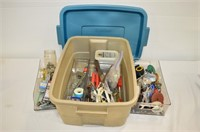 Rubbermaid Tote of Tools and Hardware