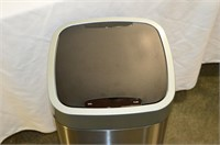 Stainless Trash Can with Power Lid