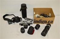 Box of Cameras and Accessories - Minolta,