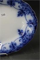 "Flow blue platter - 14"""