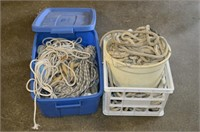 (2) Totes of Rope
