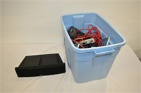 Tote of Power Bars and Assorted Cables,