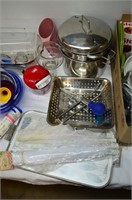 (2) Boxes of Kitchen Items - Waffle Maker,