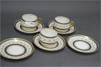 3 Limoges cups & saucers