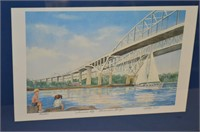Blue Water Bridge Limited Ed. Framed Print