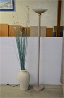 Floor Lamp and Vase