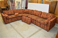 5pc. Sectional Upholstered Sofa