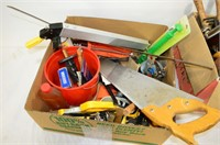 (2) Boxes of Assorted Tools and Gerden Tools