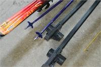 Grp, of Downhill Skis, Poles, Sport Rack