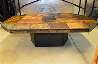 """Slate Topped Coffee Table, 32"""" x 48"""" x 15""""h"""