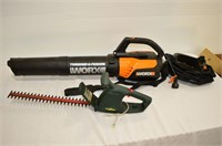 Worx Blower Vac and Yard Works Hedge Clippers